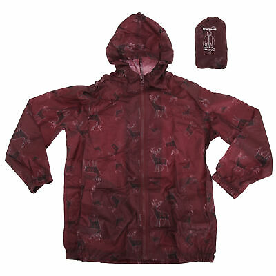 Proclimate Childrens Girls Dog Pattern Waterproof Packable Cagoule F369