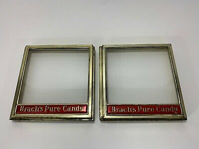 Brach's Pure Candy General Store Display Cases Hinged Glass Vintage Advertising