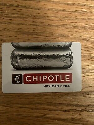 $25 Chipotle Gift Card New Card With Wallet Wear
