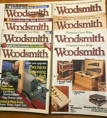 Woodsmith Magazine lot of 13 issues 1995 to 2007 Woodworking Woodshop projects