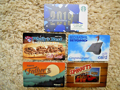 Gift Cards, Collectible, five new cards, no value on cards    (D-13)