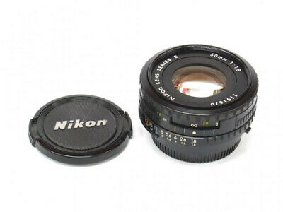 Nikon Nikkor E 50 mm F/1.8 Lens - Black