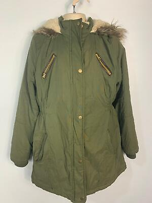 Girls Primark Khaki Casual Winter Parka Hood Parker Coat Jacket Kids Age 11 Year