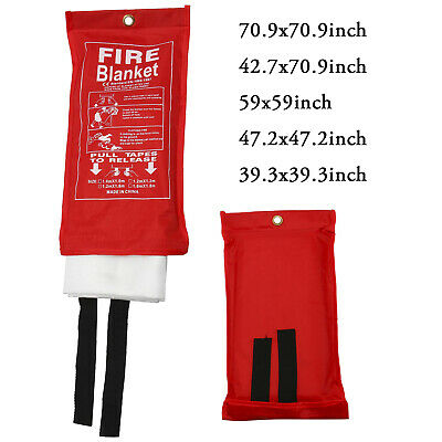 5 Size Options Fire Suppression Blanket Emergency Flame Shelter Safety Cover -AM