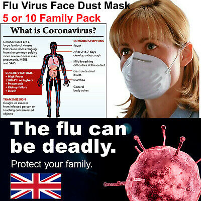 Face Mask - NEW Respirator Face Masks to Help Stop the Spread of Flu Virus
