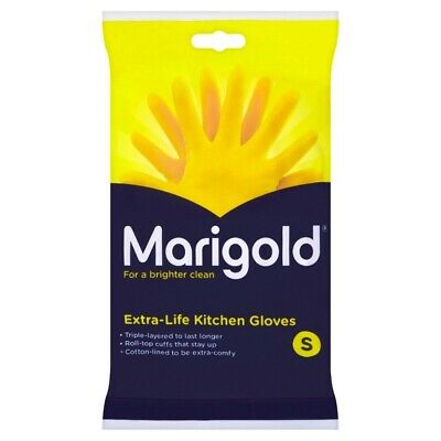 Marigold Kitchen Rubber Gloves ExtraLife Household Small FH037106 Triple Layered