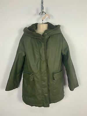 Girls Zara Khaki Green Casual Winter Padded Rain Coat Jacket Kids Age 9 Years