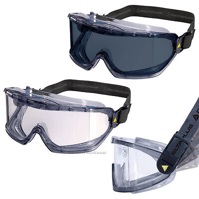 Delta GALERAS Safety Goggles PPE Eye Protection Clear Smoke Lens Panoramic