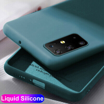 Slim Liquid Silicone Case for Samsung Galaxy S20 Plus/S20Ultra Soft Rubber Cover