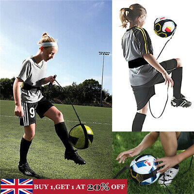 Soccer Football Kick Throw Trainer Solo Practice Training Aid Control Skill UK