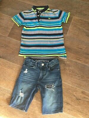 Boys Blue Zoo T-Shirt and H&M Shorts Age 6-7
