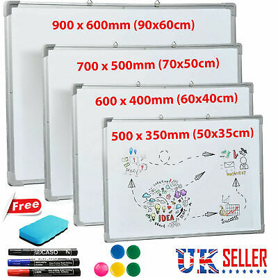 Magnetic White Board Small Large Whiteboard Dry Wipe Notice Office School Home