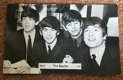 The Beatles: two 1960s B&W postcards, excellent condition