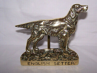 Old Brass English Setter Door Knocker