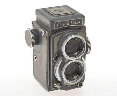 Rollei not working TLR Grey Baby Rolleiflex 4x4 with 60/3.5 Xenar exc-