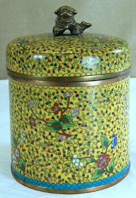 Chinese Cloisonne Box with Foo Lion