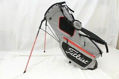 New Titleist Hybrid 5 Stand 5-Way Golf Bag (Black/Gray/Red) Titleist Stand Bag
