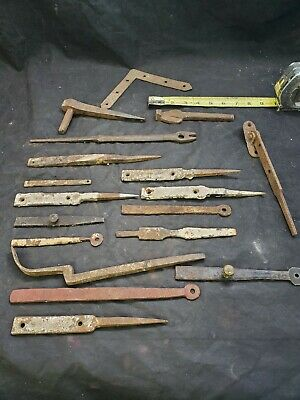 Antique Primitive Forged Hammered Hand Wrought Iron Gate Latch pin Barn lot (D2)