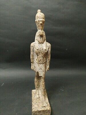 Rare Antique Ancient Egyptian Statue God Horus Falcon granite 1740 BC 30 cm