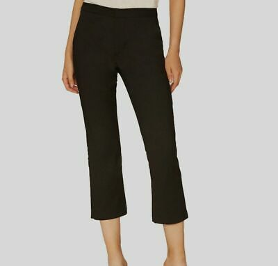 NEW $275 Sanctuary Womens Black Stretch Mid-Rise Cropped Trousers Pants Size 29