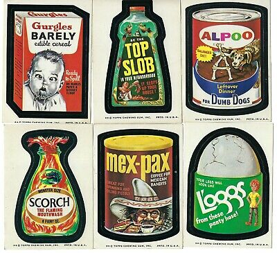 1974 WACKY PACKAGES Trading CARD Sticker LOT 20+ TAN BACK Topps Vtg 7th series