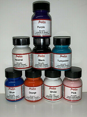 Angelus Leather Paint Starter Kit Set of 8, 1oz Bottles ALL NEW