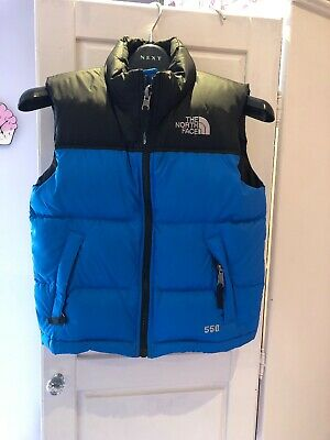 The North Face Boys Blue 550 Gilet Body Warmer Size small Age 6 Years