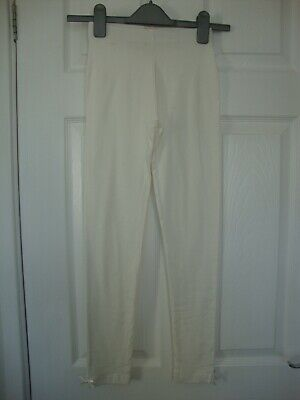 NWOT Max Girls Ivory Leggings with Bow Detail Size 11-12 years