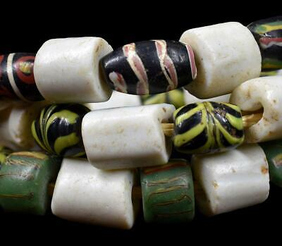 Feather Venetian and Goomba Trade Beads