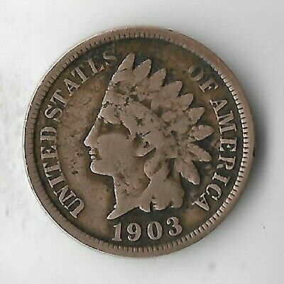Rare Old Antique US 1903 Indian Head Penny Turn Of The Century Collection Coin