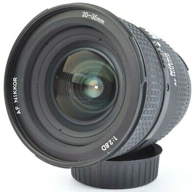 Nikon AF NIKKOR 20-35mm f/2.8 D Wide-Angle Zoom Lens for F-Mount w/ Caps #E15487