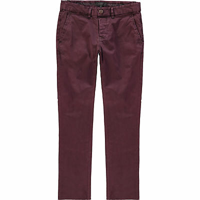 RIVER ISLAND Premium Plum Burgundy Red Dylan Slim Fit Chinos Khaki Trousers W26