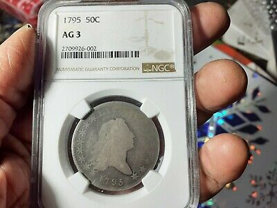 1795 Half Dollar. Highly Circulated, and kept undamaged. Indigo toning.
