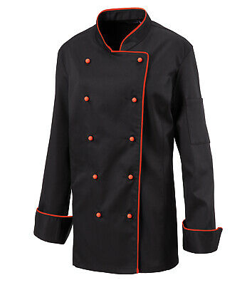 Exner Ladies Chef Jacket Bakers Piping Chef's Black with 5 Colours
