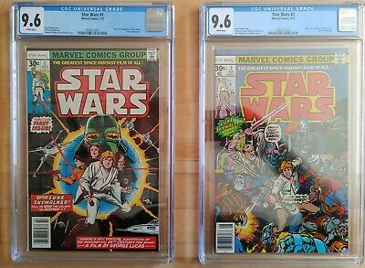 1977 Marvel Star Wars #1 & #2 CGC 9.6 WP ~PRISTINE SLABS~ COMBINED SHIPPING