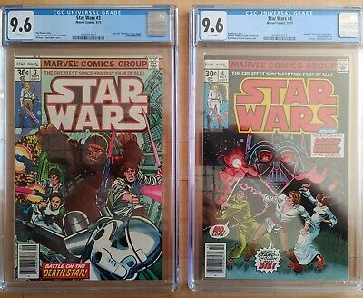 1977 Marvel Star Wars #3 & 4 CGC 9.6 WP ~PRISTINE SLABS~ COMBINED SHIPPING