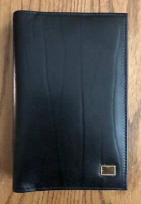 Day-Timer Western Coach .5 inch Black Leather Planner Cover Portable Size NWOT