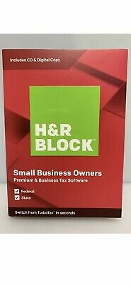 H&R BLOCK Small Business Owner Tax Software Premium & Business 2019