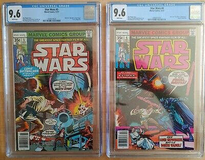 1977 Marvel Star Wars #5 & #6 CGC 9.6 WP ~PRISTINE SLABS ~COMBINED SHIPPING