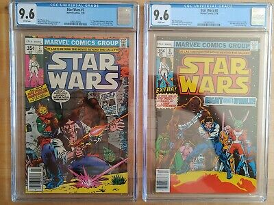 1977 1978 Marvel Star Wars #7 & #8 CGC 9.6 WP ~PRISTINE SLABS~ COMBINED SHIPPING