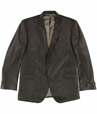 Kenneth Cole Mens Slim Fit Two Button Blazer Jacket, Brown, 50 Long