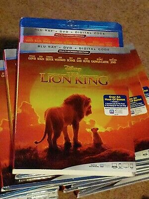 The Lion King live action(Blu-Ray + DVD 2019) w/ Slipcover