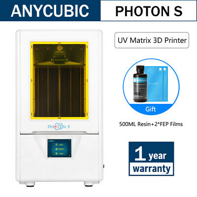 CA ANYCUBIC LCD Photon S Photocuring 3D Printer UV Light-Cure Dual Z-axis Resin