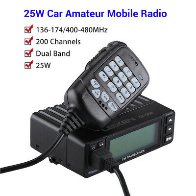 2.5K Step with Programming Cable 5W//10W//25W Car Charger LEIXEN VV-898E Dual Band Mobile Transceiver Amateur Ham Radio Car Radio Two Way Radio