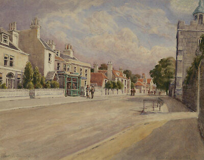 William James - Early 20th Century Watercolour, Lewes, Sussex