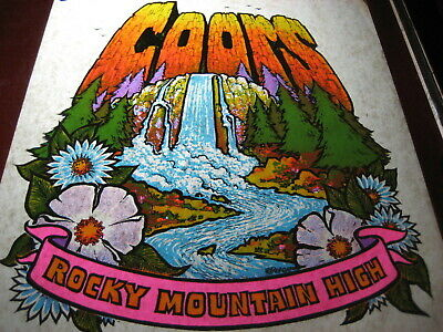 COORS ROCKY MOUNTAIN HIGH 1975 Day Glo Iron On Transfer SEALED Package Rats Hole