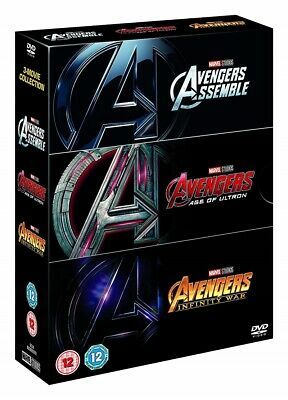 Avengers: 3 Movies Trilogy (DVD Box Set 2018) USA SELLER Free and Fast Shipping!