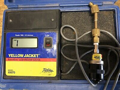 Ritchie Yellow Jacket 69070 SuperEvac LCD Full Range Vacuum Gauge