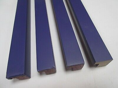 2.4 m Bundle (40x80cm) Purple Wooden Picture Frame Moulding 21mm wide