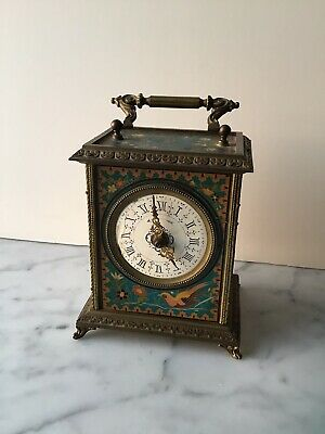 Antique  ,painted, French Carriage Clock. Depose Brevets.